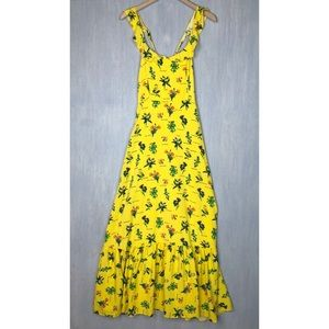Modcloth Feeling Serene maxi dress yellow M